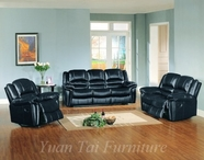 Yuan Tai SU2990BK-SET(3) SET - Sutton Black Recliners 3 Pcs