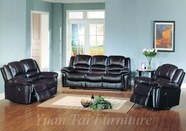 Yuan Tai SU2990BR-SET(3) SET - Sutton Brown Recliners 3 Pcs