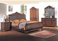 Yuan Tai TI5920Q Tiption  with Leather Queen Bedroom set