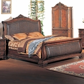 Yuan Tai TI5922K Tipton King Bed w/ Leather