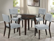 Yuan Tai WE620T(621S)-4 SET - Wegman Table w/4 Grey Chairs