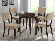 Yuan Tai WE620T(622S)-4 SET - Wegman Table w/4 Mocha Chairs