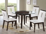 Yuan Tai WE620T(624S)-4 SET - Wegman Table w/4 White Chairs