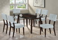 Yuan Tai WE623T(621S)-6 SET - Wegman Table w/6 Grey Chairs