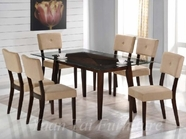 Yuan Tai WE623T(622S)-6 SET - Wegman Table w/6 Mocha Chairs