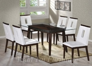 Yuan Tai WE623T(624S)-6 SET - Wegman Table w/6 White Chairs