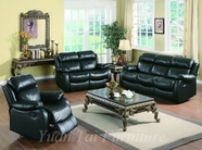 Yuan Tai WE9918BK-SET(3) SET - Weston Black Recliners