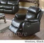 Yuan Tai We9918C-Bk Weston Black Recliner Chair