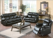 Yuan Tai - Weston WE9918S-BK-WE9918L-BK Living Room Set