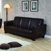 Yuan Tai WN888S-BR Winston Brown PU Leather Sofa