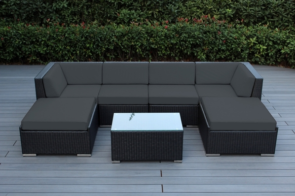 Ohana  Outdoor Patio Wicker Furniture Sectional 7 pc couch set.  $200 off.  Now at $1199 ( Coupon Code : M200)