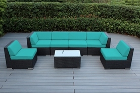 Ohana Patio Outdoor Wicker Furniture Sectional 7 pc set .  Additional $200 off.  Now at $1299 ( M200)