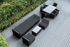 Ohana Outdoor Patio Wicker Furniture  Sofa and Dining  14 pc set.   Addtional $400 off.  Now at $2399 ( Coupon code: M400)