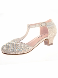 Embellished Pageant Child Shoe by Your Party Shoes Ellie 814