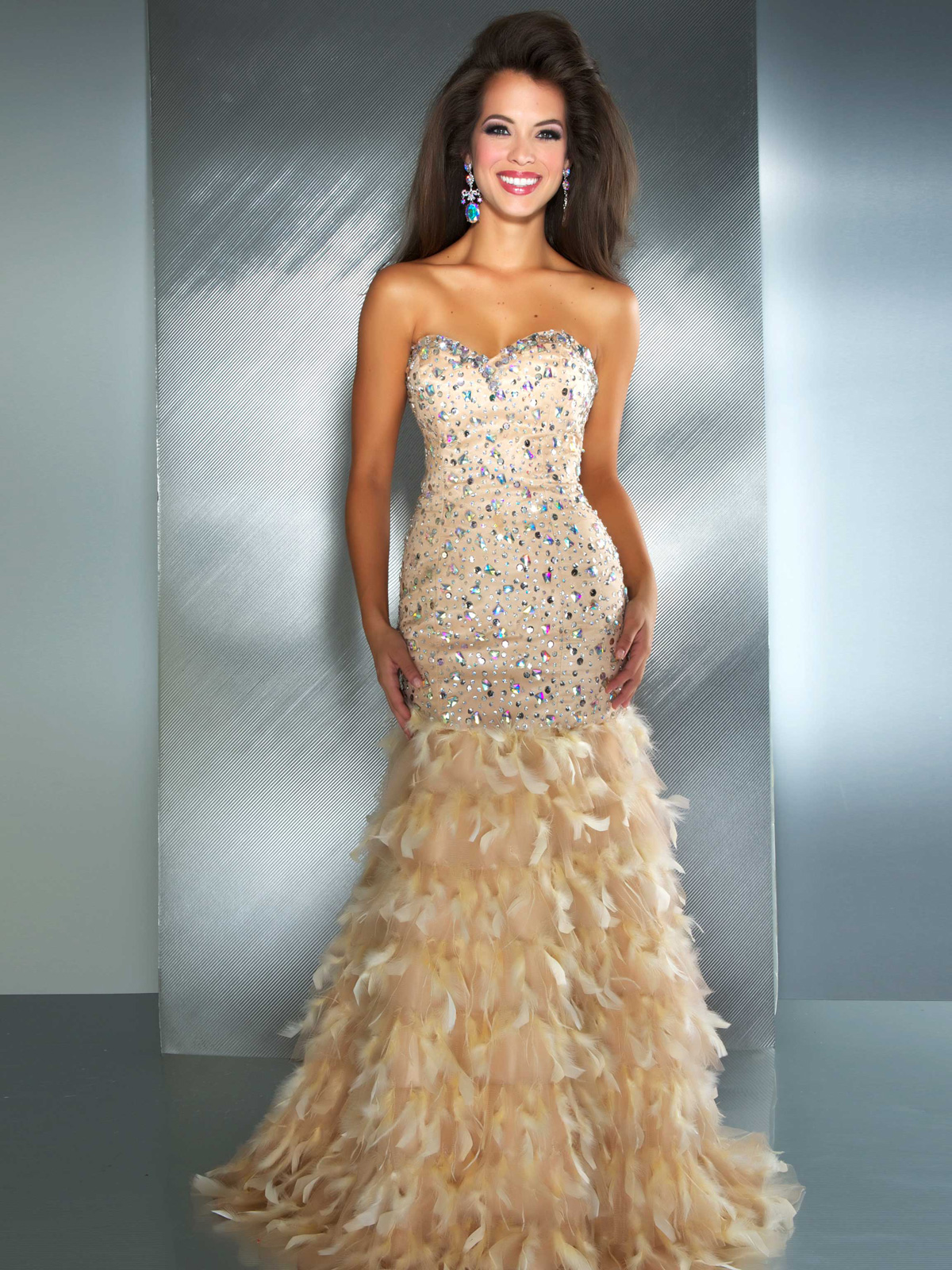 Ice Blue Sweetheart Mac Duggal Formal Pageant Gown 7242M