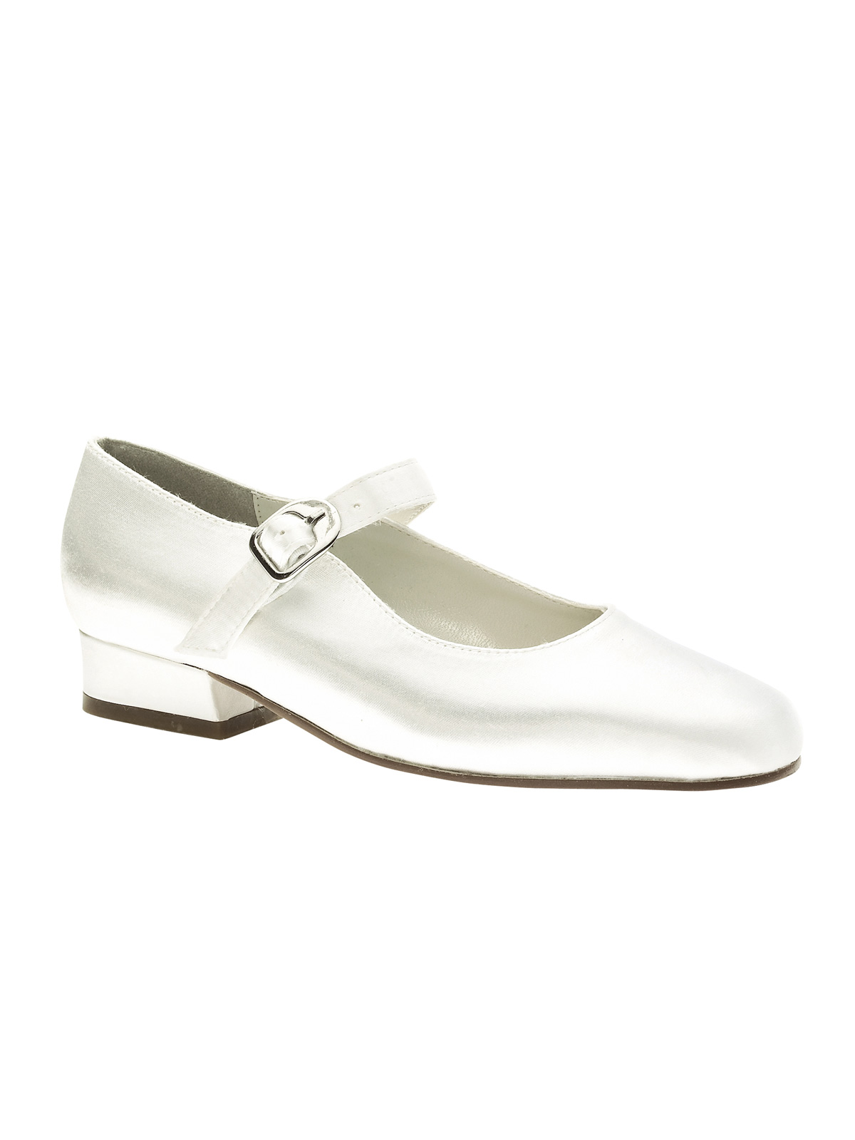 white satin 3 4 heel sabrina 773 pageant shoes by