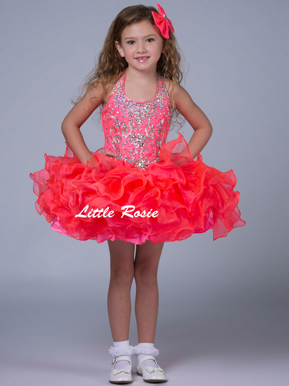 Little Rosie Pageant Halter Pageant Dress SR311PageantDesigns.com