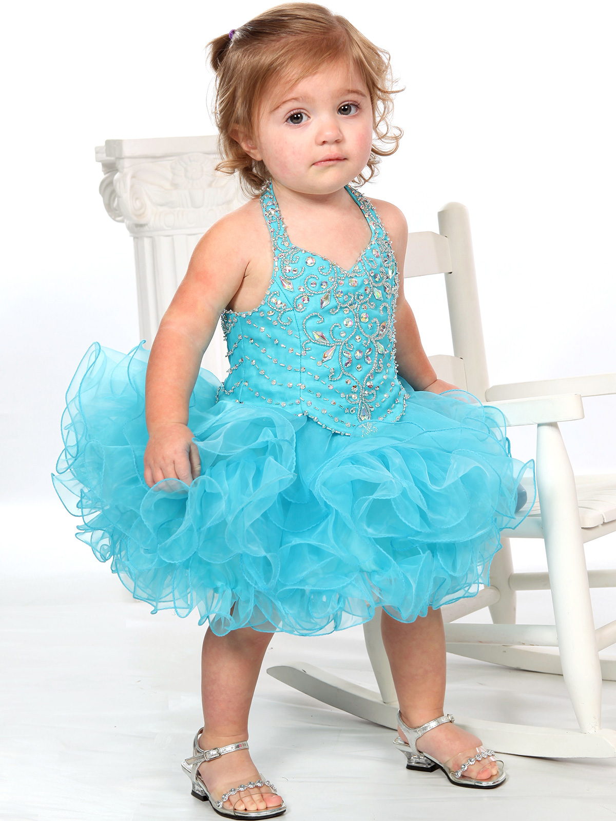 Beaded Bodice Baby Girls Unique Fashion Pageant Gown UFB026 ...