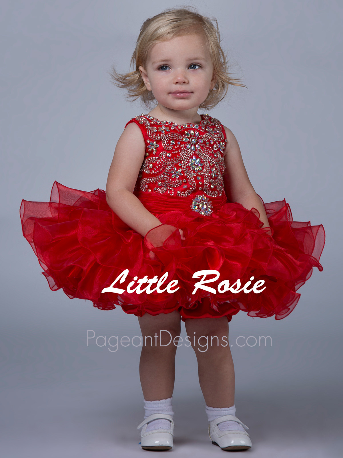 Little Rosie Hand Beaded Pageant Dress BR1204|PageantDesigns.com