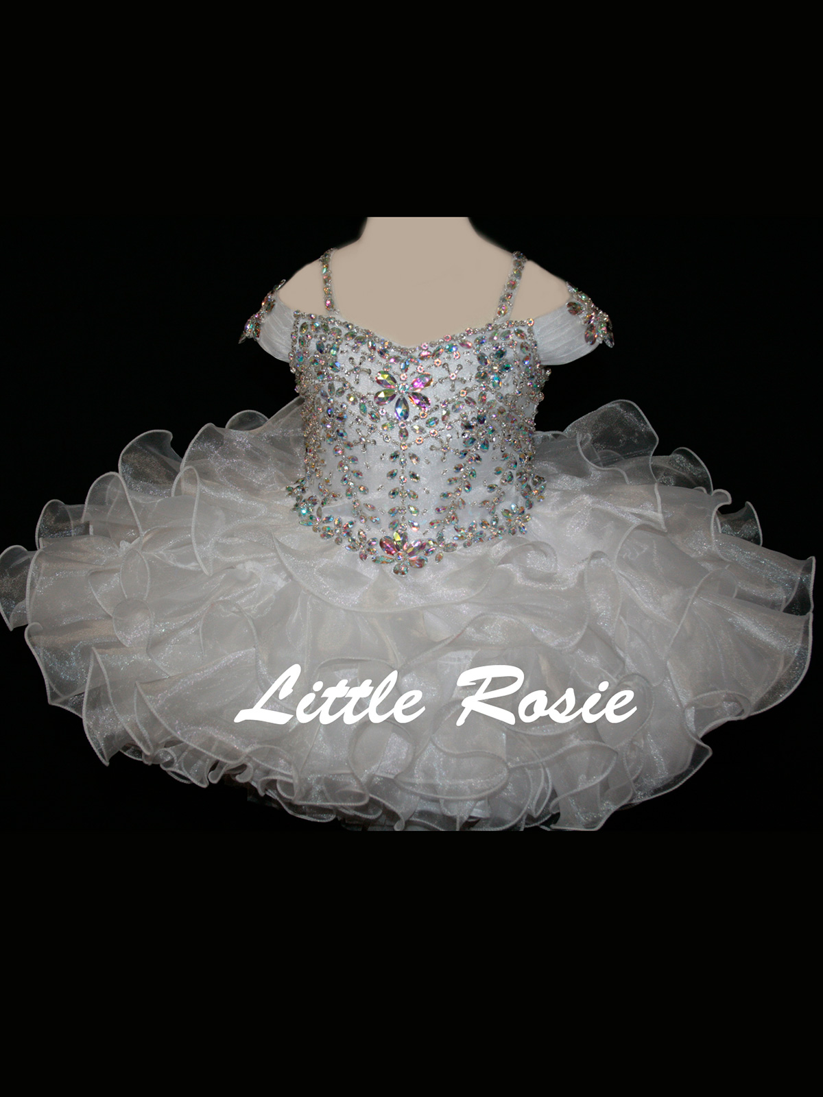Little Rosie BR1309 Ruffled Skirt Pageant Dress|PageantDesigns.com