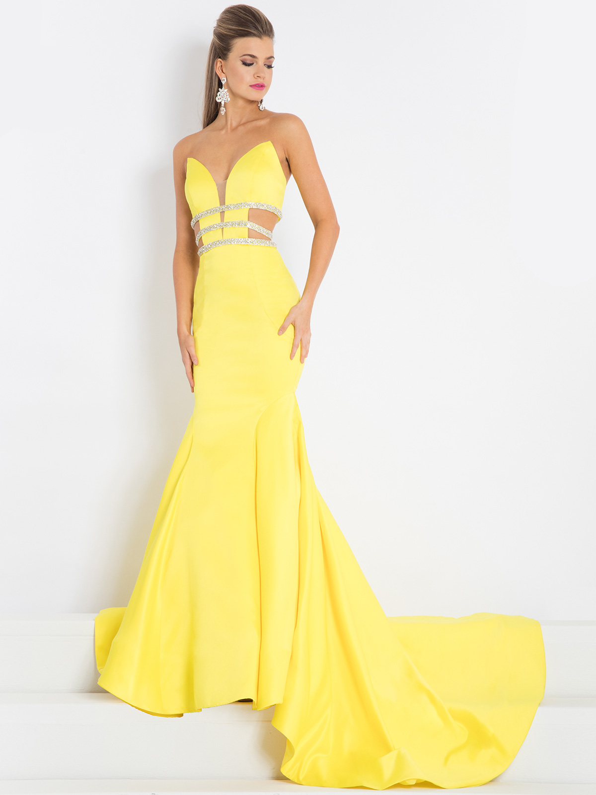 Prima Donna 5917 Plunging Sweetheart Pageant Dress|PageantDesigns.com