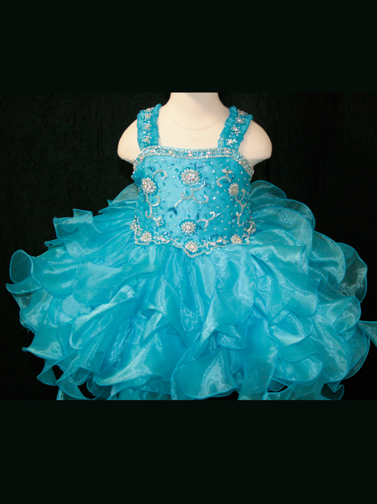 Beaded Little Rosie Infant Toddler Pageant Dress BR1039 ...