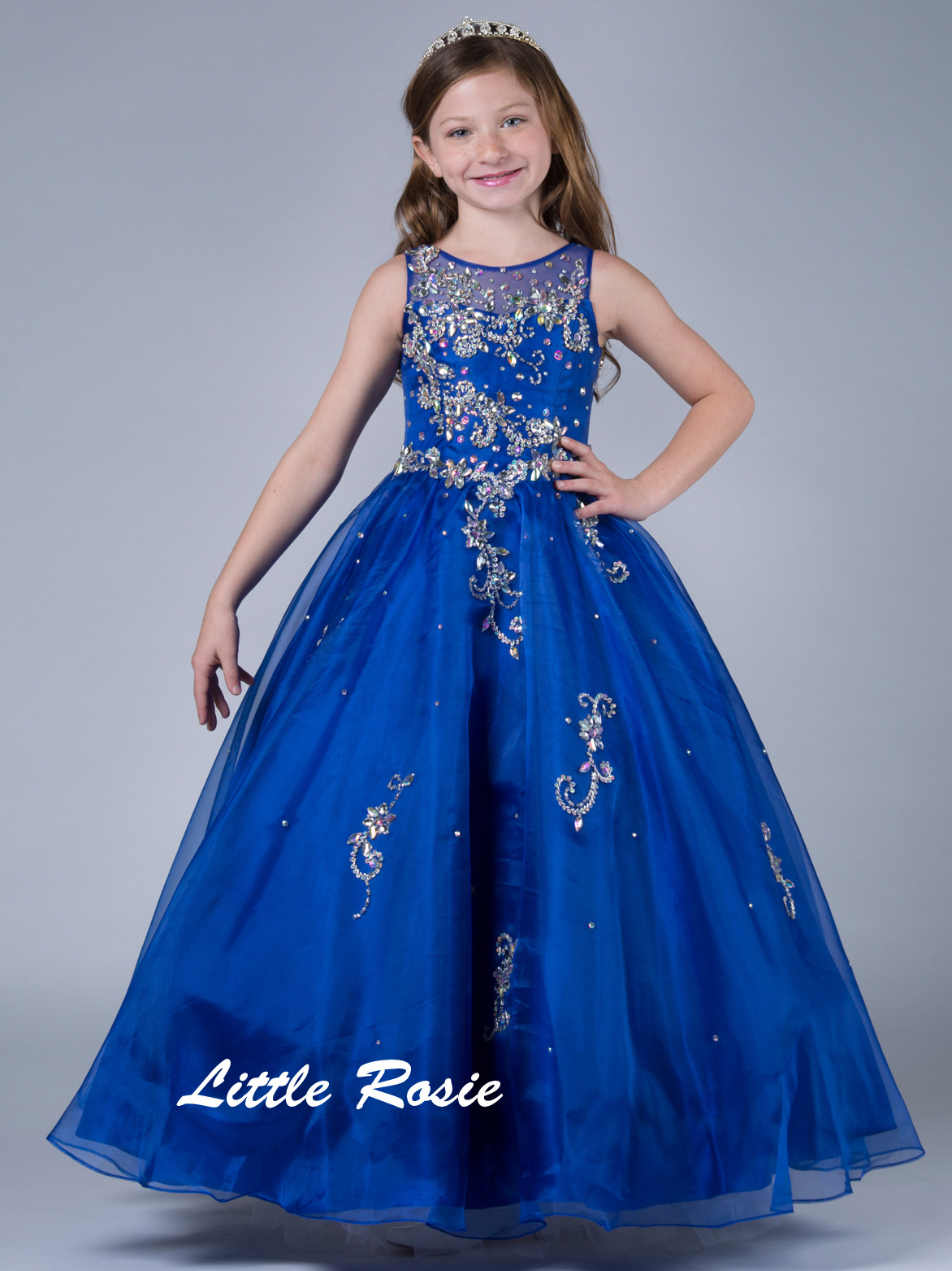 Little Rosie Long Pageant Dresses | PageantDesigns.com