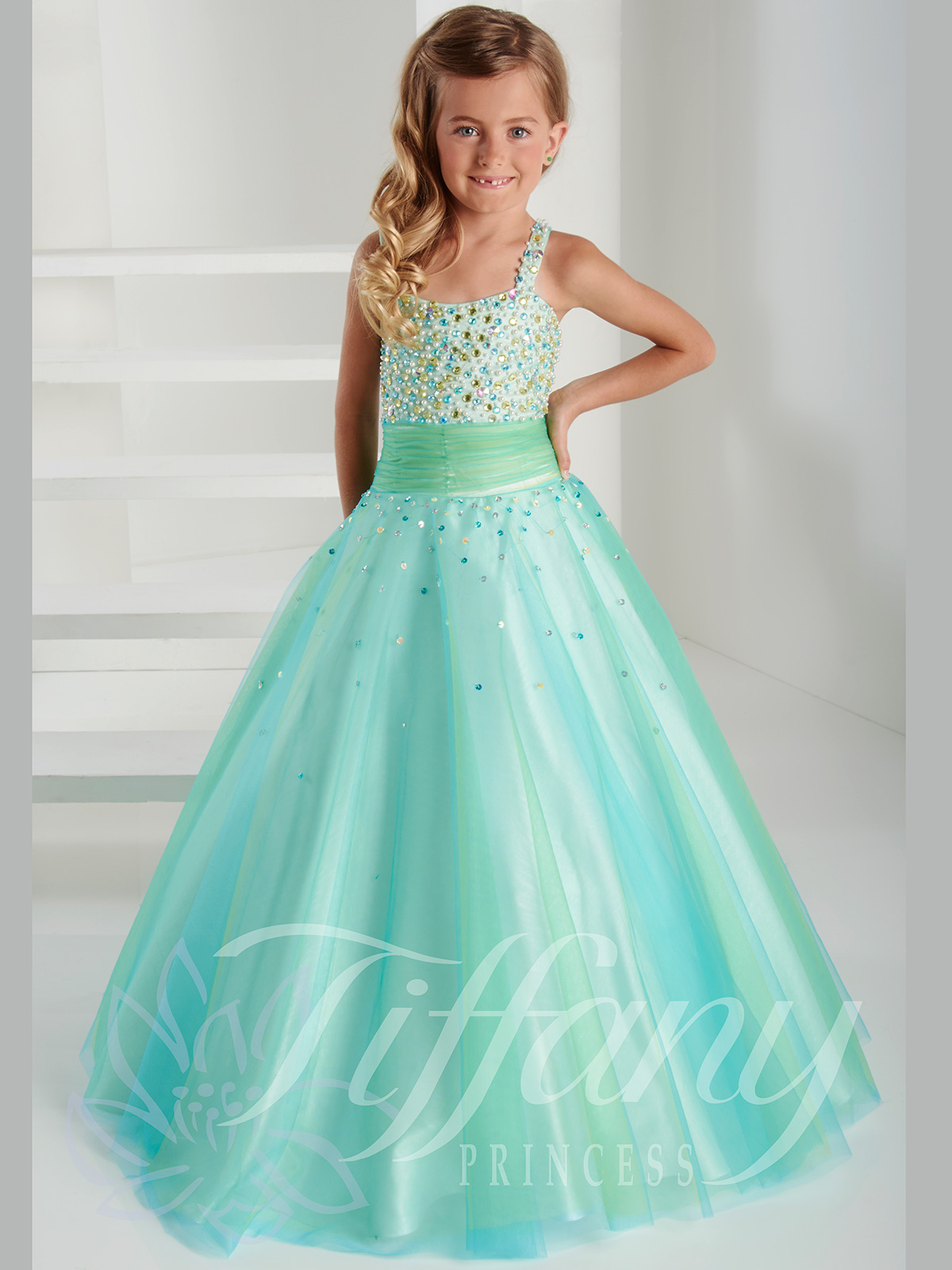 Tiffany Princess Beaded Bodice Pageant Gown 13405|PageantDesigns.com