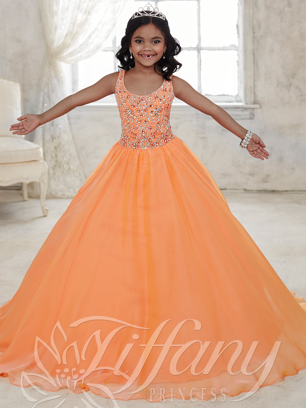 Tiffany Princess 13441 Scoop Neckline Girls Pageant Dress ...