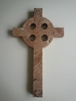 Celtic Wall Cross - Travertine