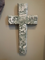 Granite Earth View Wall Cross
