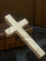 Marble Wall Cross - Beige