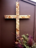 Oversized Reclaimed Texas Limestone Wall Cross
