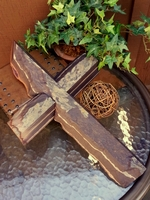 Plum Creek Wall Cross - Broken Edges Angled - Plum/Gray