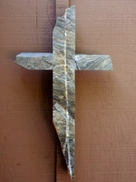 Quartzite Wall Cross - With White Stripe