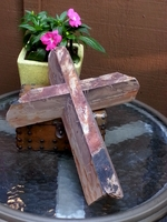 Red Plum Creek Angled Cut Wall Cross , Broken Edges