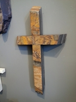 Shist Stone Wall Cross- Angled Ends