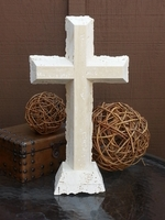 Standing Cross- Travertine Lacy Edges I