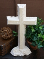 Standing Cross- Travertine Lacy Edges II