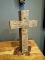 Standing Sandstone Cross on Painted Valley Stone