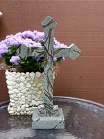Standing Soapstone Cross With Rounded End Pieces