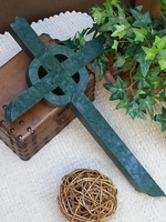 Wall Cross - Green Granite, Celtic, Broken Ends