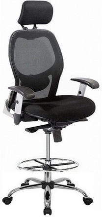 Harwick Mesh Back Drafting Chair - Free Shipping! [3052D]