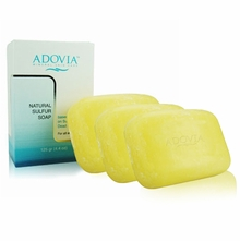 Adovia All Natural Sulfur Soap - 3 PACK