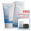 Adovia Dead Sea Mud Mask with Pure Dead Sea Mud, Aloe Vera & Vitamin C - with FREE MUD SOAP ($10 VALUE)