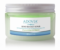 Adovia Dead Sea Salt Scrub - Cucumber-Melon
