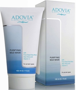 Adovia Dead Sea Mud Mask with Pure Dead Sea Mud, Aloe Vera & Vitamin C