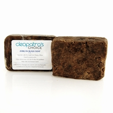 African Black Soap - CUCUMBER-MELON 4oz - Made with Shea Butter and Coconut Oil