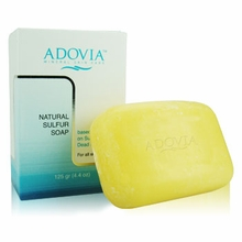 All Natural Sulfur Soap with Sulfur & Dead Sea Salt by Adovia