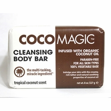 CocoMagic Coconut Oil Cleansing Body Bar  Large 8 oz
